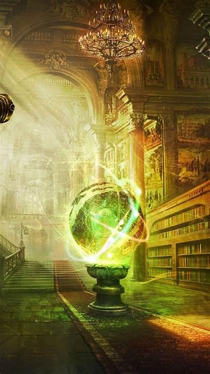 Magic Fantasy Library Wallpapers Castle Globe Ball