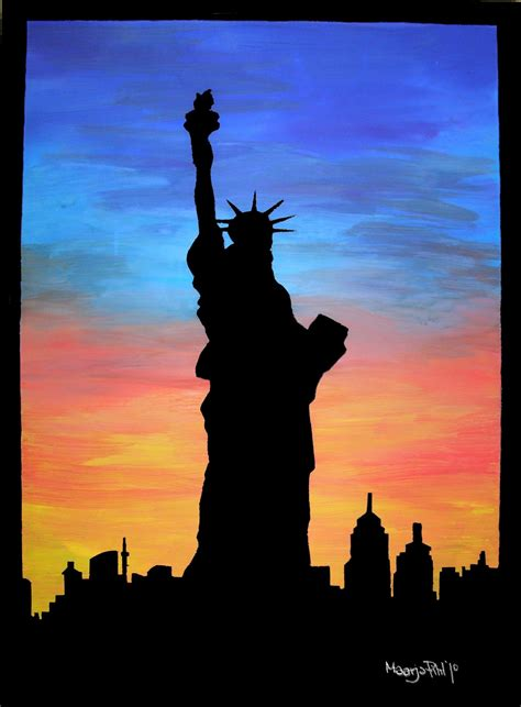 New York Acrylic By Maarja Pihl Oil Pastel Art Oil