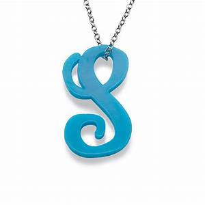 Letter necklace in acrylic mynamenecklace uk for Acrylic letter necklace