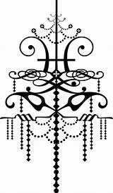 Bracci Lampadario Baroque Lampadina sketch template