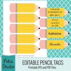 Free Printable Pencil Name Tags