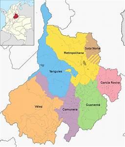 File Mapa De Santander  Subdivisiones  Svg