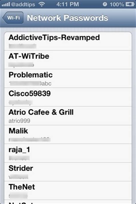 how to see wifi password on iphone view passwords for wifi networks saved on your iphone with