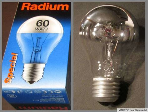 spiegel mit glühbirnen radium gl 252 hle gl 252 hbirne verspiegelt spiegel spiegelle chrom 60w 230v e27 ebay