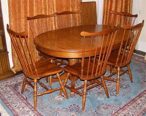 tell city dining table with 6 chairs marva s placemarva