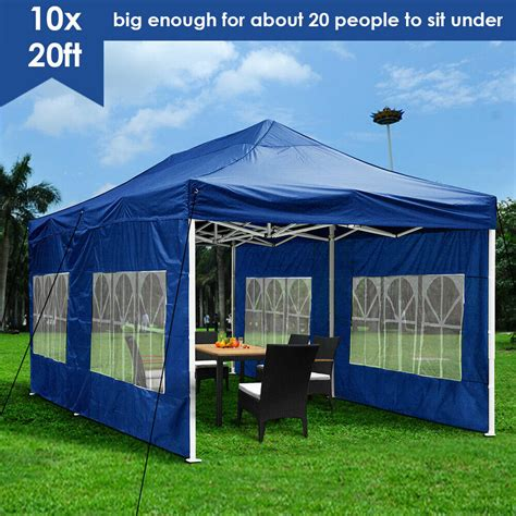 outdoor ez pop wedding party tent patio blue canopy pavilion ebay