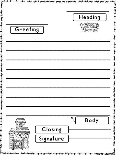 friendly letter templates   school version