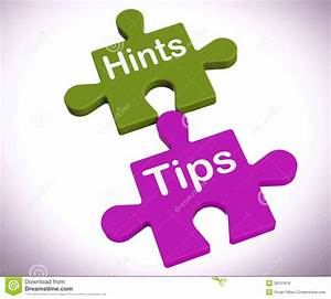 Hints Tips Puzzle Shows Suggestions And Assistance Royalty ...