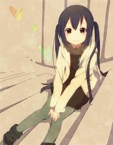 anime, black hair, brown eyes, female, k-on - image ...