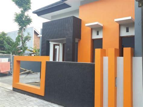 gambar rumah minimalis cat orange  inspiratif