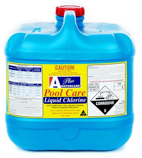 Poolcare Liquid Chlorine   A Plus   Chemicals Western