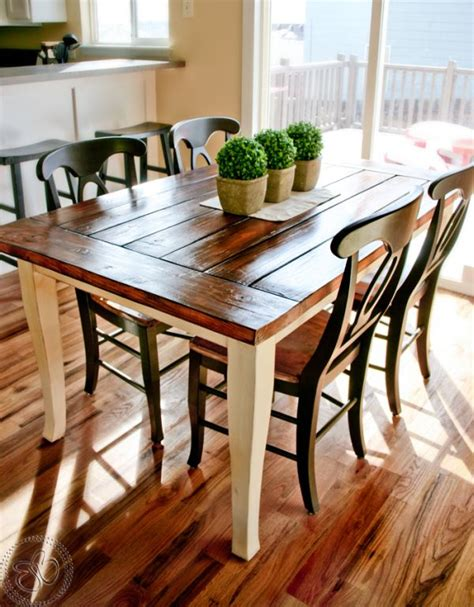 stylish farmhouse dining tablesairily romantic  casual