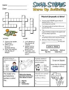 7th grade social studies worksheet by classroom