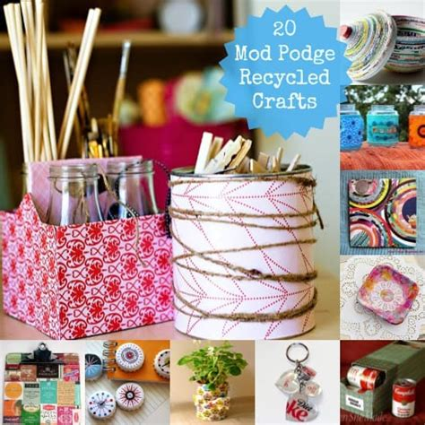 20 Awesome Mod Podge Recycled Crafts  Mod Podge Rocks