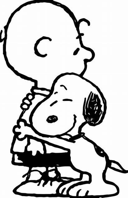 Snoopy Coloring Hug Pages Happy Cartoon Spring