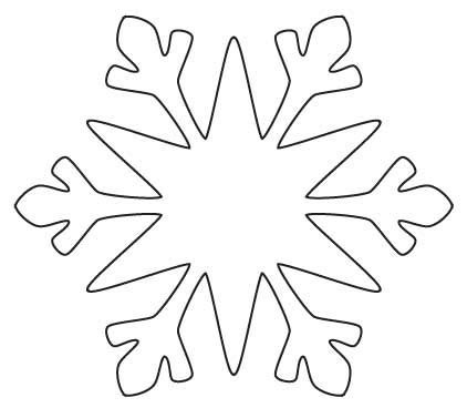 snowflake cutout template snowflake template clipart best