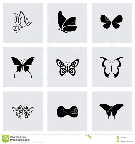 vector butterfly icon set stock vector image 52999302
