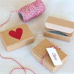 Mini Favour Box In Kraft Brown Card  7 5x5x2 5cm