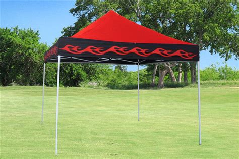 red flame pop  tent canopy