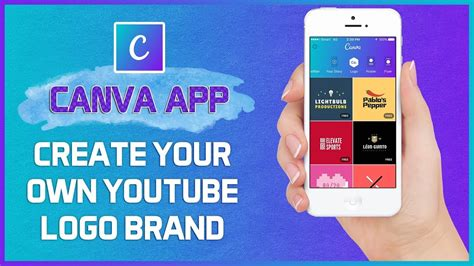 how to create your own brand logo in canva app without photoshop free video tutorial 2017