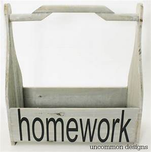 diy wooden homework caddy uncommon designs With where can i get vinyl letters