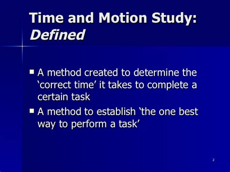 time study time and motion study