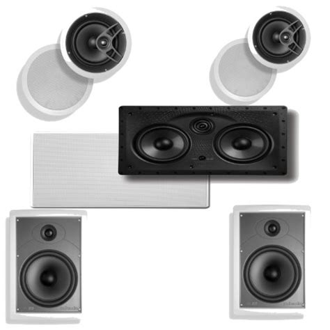 polk ceiling speakers mc80 polk audio 255c ls in wall center speaker plus a pair of