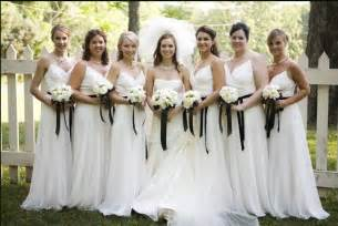 white bridesmaid dresses power to personalize your wedding wedding trend white bridesmaid dresses