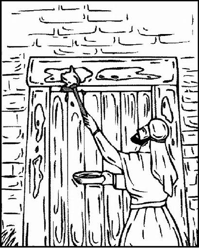 Passover Coloring Door Exodus Blood Donating Bill