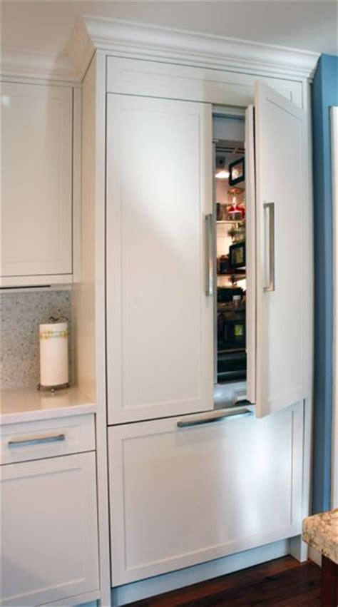 kitchen cabinets refrigerator panels painted built in refrigerator panels kitchen cabinets