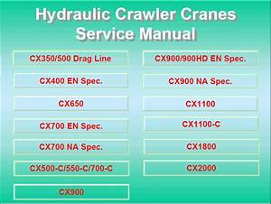 Hitachi Hydraulic Crawler Cranes Service Manual