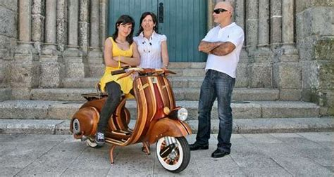 wooden scooters improving  classic vespa  classic