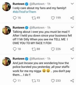 Runtown blasts his record label boss Okwudili Umenyiora