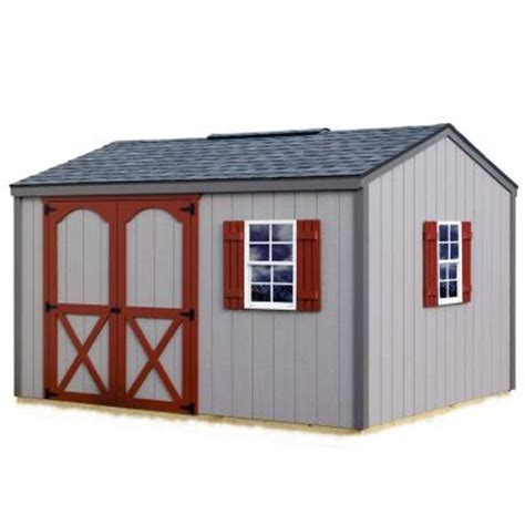 storage sheds home depot best barns cypress 12 ft x 10 ft wood storage shed kit