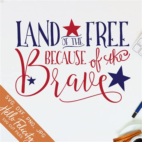 4th july, kids, quotes and sayings. 4th of July Svg Svg files for Cricut Land of the Free Svg ...