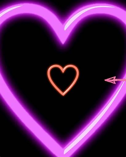 Neon Heart Gifs Sign Arrow Giphy Night