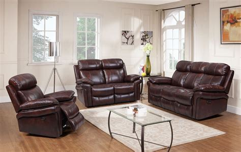 Reclining Living Room Sets : Shae Joplin Brown Leather Power Reclining Living Room Set
