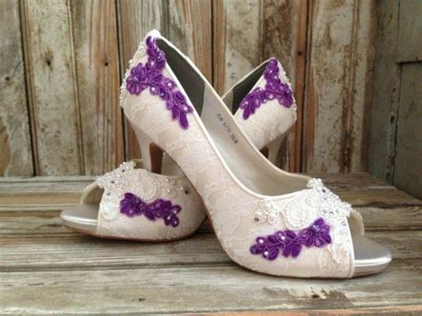 colored wedding shoes colored bridal shoes purple ivory white all by laboutiquebride