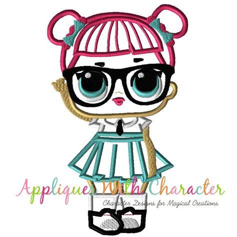 teachers pet doll applique design lol suprises