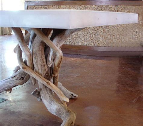 modern  natural float dining table   unique base
