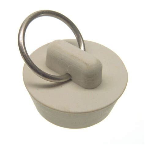 Sink Stopper Stuck Rubber by Danco 1 In Rubber Drain Stopper In White 80223 The Home