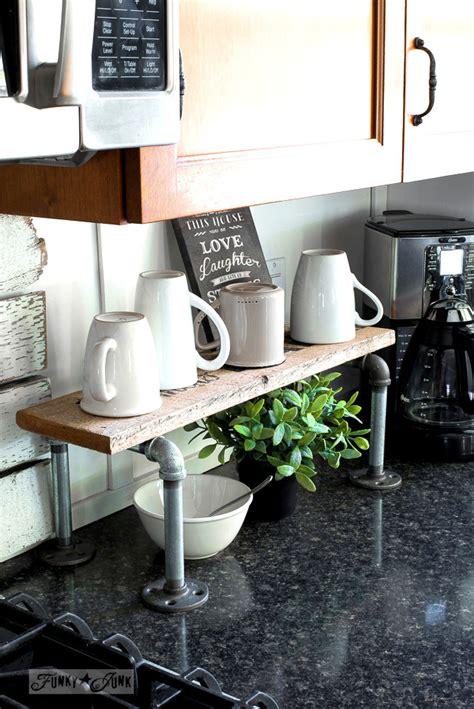 industrial pipe  reclaimed wood mini coffee