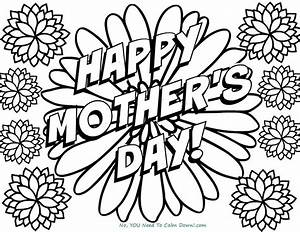 Happy Mother U0026 39 S Day Flowers Coloring Page