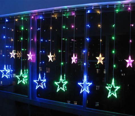 color 12 twinkling string lights