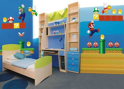 chambre mario bros boys room interior design