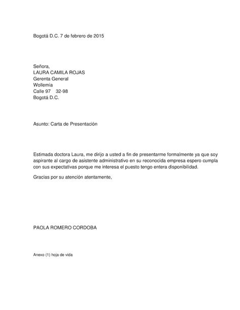 foto de Calaméo Carta De Presentación Asistente Administrativa