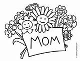 Coloring Mother Pages Mothers Happy Olds sketch template