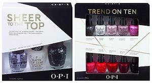 OPI Trend on Ten & Sheer to the Top Holiday Gift Sets
