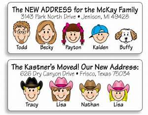 moving cards and labels With caricature address labels