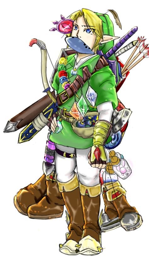 Realistic Link With His Items Zelda